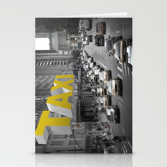 New York Taxi in the air Stationery Card
