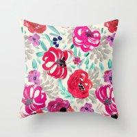 Mona Floral Throw Pillow
