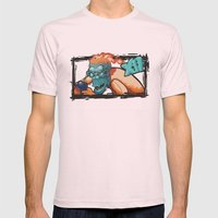 MONKEY Mens Fitted Tee Light Pink SMALL