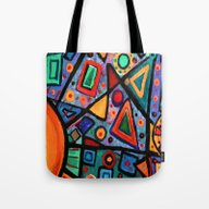 Abstract Sun Tote Bag