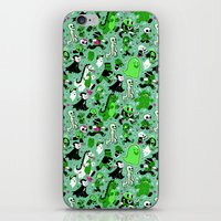 Monster March (Green) iPhone & iPod Skin