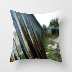 Blue Bars Throw Pillow