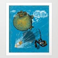 pufferfish baloon Art Print