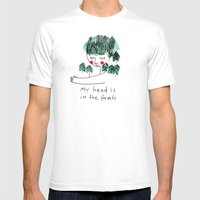 My head is in the forests Mens Fitted Tee White SMALL