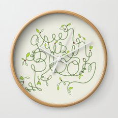 Green is in Bloom Wall Clock