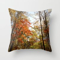 Fall's Wanderlust  Throw Pillow