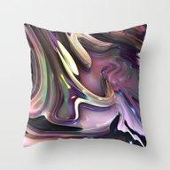 824 Fractal Throw Pillow