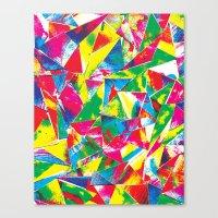 Rave Paint Canvas Print