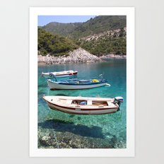 Three Fishing Boats Art Print