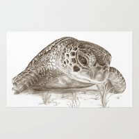 A Green Sea Turtle :: Earthtones Rug