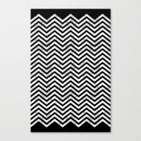 Black Lodge Zig Zag (Dis… Canvas Print
