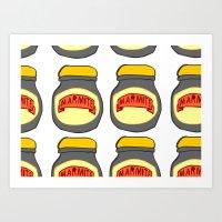 Marmite Art Print