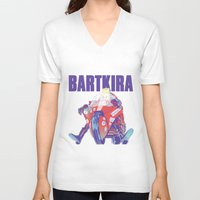 Bartkira on Motorcylce Unisex V-Neck