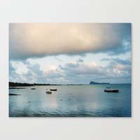 Blue Sunrise Canvas Print