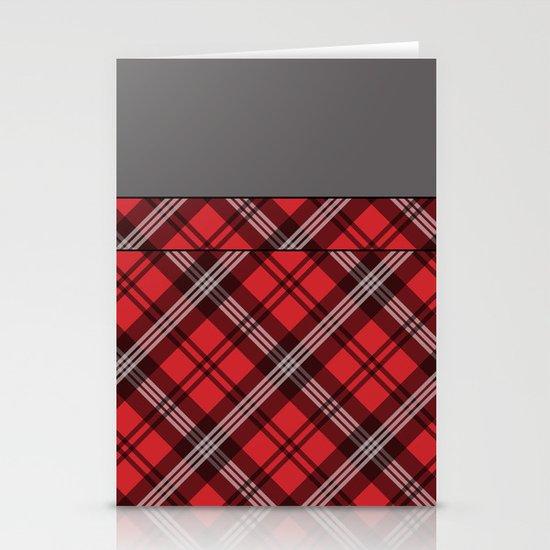 Scottish Plaid (Tartan) - Red Stationery Card