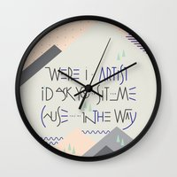 Haikuglyphics - Landscape Wall Clock