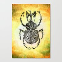 Sr Coprofago - Beetle shit Canvas Print