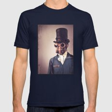 Steampunk Mens Fitted Tee Navy SMALL