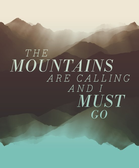 Mountains - Color Art Print