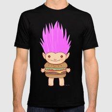 Hamburger Troll Mens Fitted Tee Black SMALL