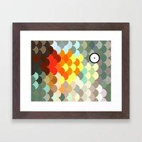 Rainbow Scales  Framed Art Print