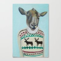 Sheep Wearing Deer Sweat… Canvas Print