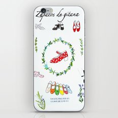 Zapatos de Gitana iPhone & iPod Skin