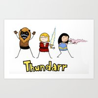 Thundarr the Barbaraian Art Print