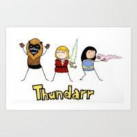 Thundarr The Barbaraian Art Print