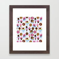 Dessert Pattern Framed Art Print