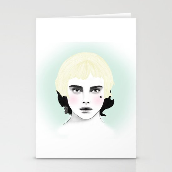 Fashion Illustration - Chanel Yellow  Stationery Card