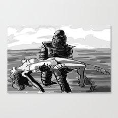 Black Lagoon (B&W)... Canvas Print