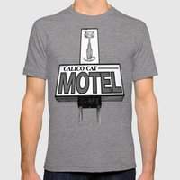 Cool Cat Motel Mens Fitted Tee Tri-Grey SMALL