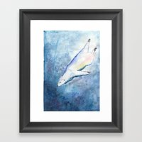 Deep Diving Framed Art Print