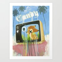 candy Art Prints featuring CANDY by Chris Arran