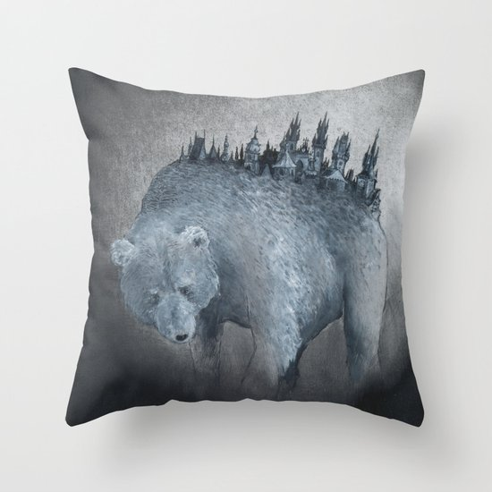 The Bear Who Couldn't Bear Throw Pillow