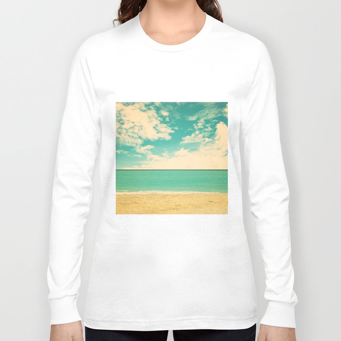 Retro beach long sleeve t shirt by ac photography society6 for Retro long sleeve t shirts