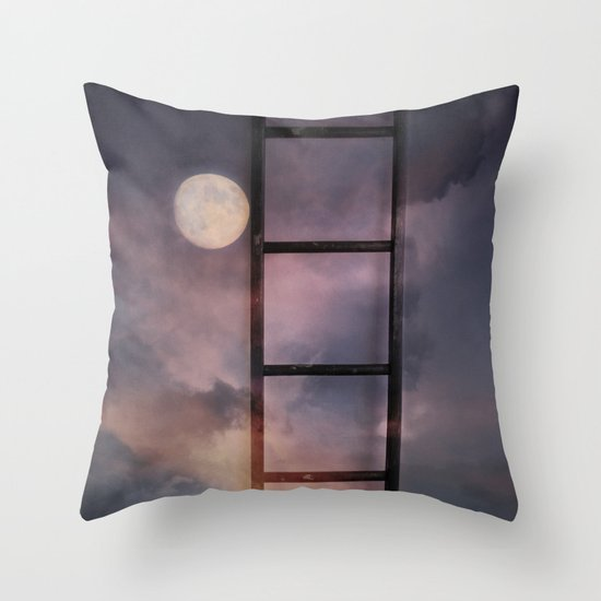 Beyond the Moon and back Throw Pillow