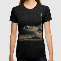 Alarmed/Lights Womens Fitted Tee Tri-Black SMALL
