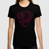 My Locked Heart Womens Fitted Tee Black SMALL