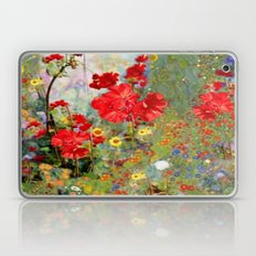 Red Geraniums In Spring … Laptop & iPad Skin