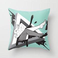 Lady Bunny Throw Pillow