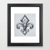 Royal - Fleur De Lys Framed Art Print