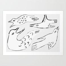 Gulls Art Print