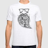 Beard Me Some Music (Bla… Mens Fitted Tee Ash Grey SMALL