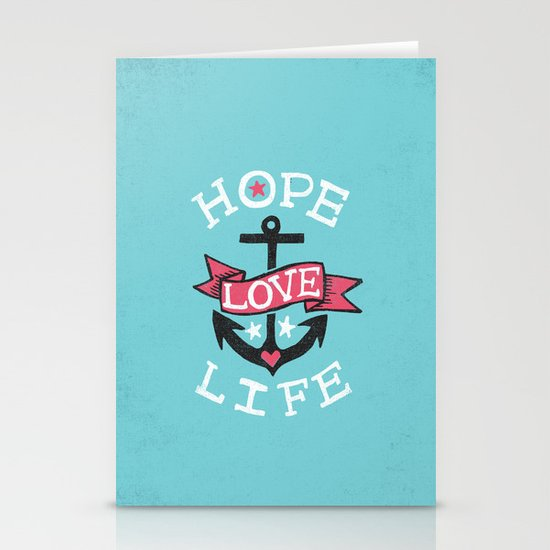 HOPE LOVE LIFE - ANCHOR Stationery Card