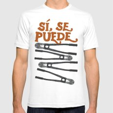 Sí se puede SMALL White Mens Fitted Tee