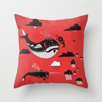 Badasses Roaming The Skies Throw Pillow