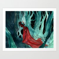 Snow White Lost In The W… Art Print