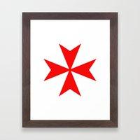 Malta Knights Cross Framed Art Print